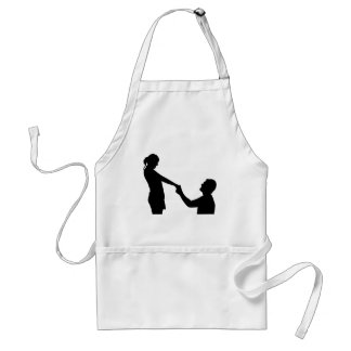 Marriage Proposal Silhouette Standard Apron