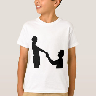 Marriage Proposal Silhouette T-Shirt