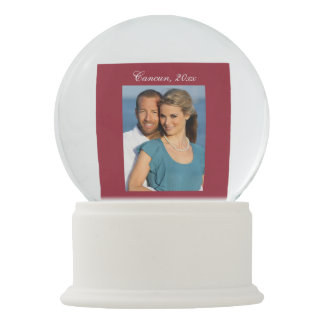 Marriage Proposal Snow Globe with Photo