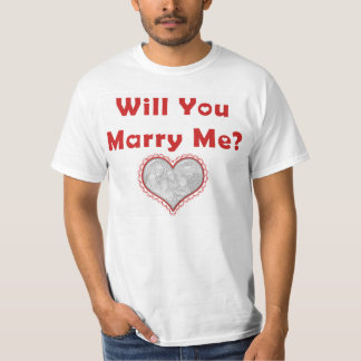 """Marriage Proposal T-shirt with Heart Photo """"Frame"""""""