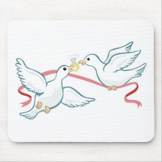 Marriage Propsal Doves Mouse Pad