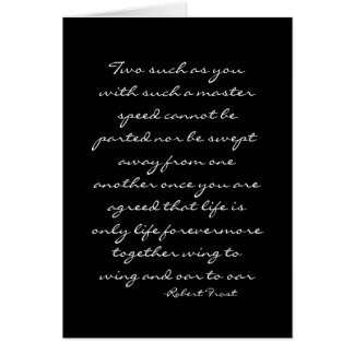 Marriage Quote-Robert Frost Greeting Card