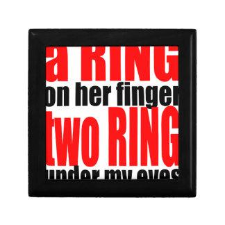 marriage reality ring finger eyes joke romance cou gift box