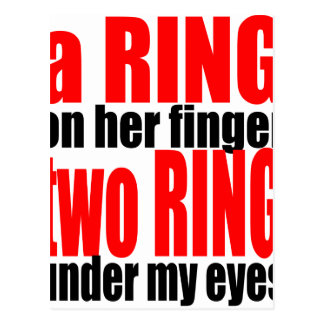 marriage reality ring finger eyes joke romance cou postcard