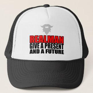 marriage realman future groom bride christmas part trucker hat