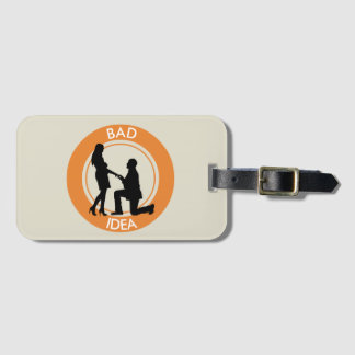 Marriage,run away from this luggage tag