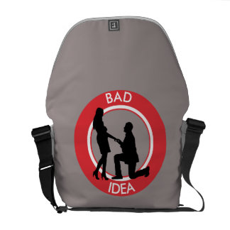 Marriage,run away from this. messenger bag