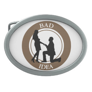 Marriage, run away from this. oval belt buckles