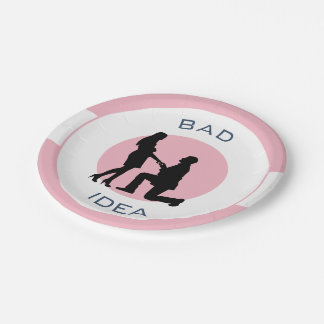 Marriage,run away from this! paper plate