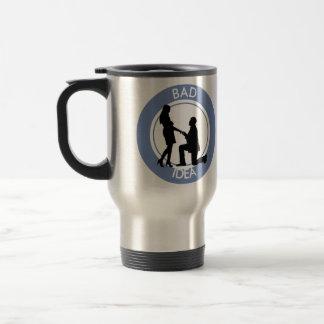 Marriage,run away from this. travel mug