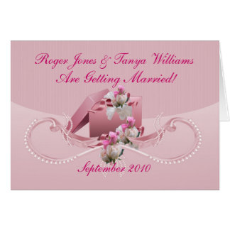 marriage - save the date - Customise - Customize Greeting Card