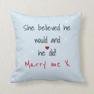 Marriage Saying Throw Pillow