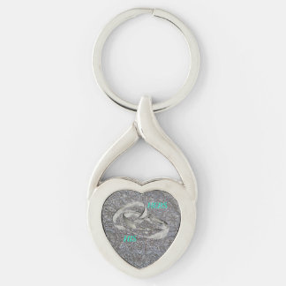 MARRIAGE Silver-Colored TWISTED HEART KEY RING