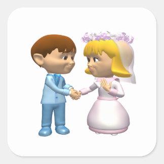 Marriage Square Sticker
