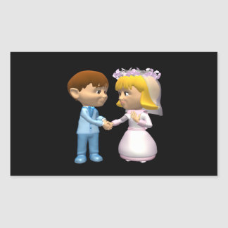 Marriage Rectangular Stickers