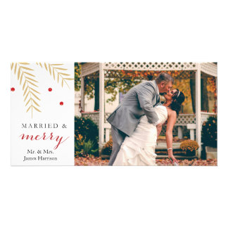 Married and Merry Christmas Photo Card
