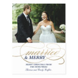 Married and Merry | Christmas Postcard