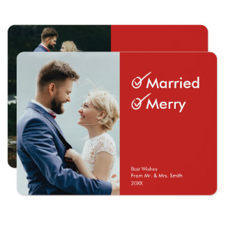 Married and Merry | First Christmas Photo Card