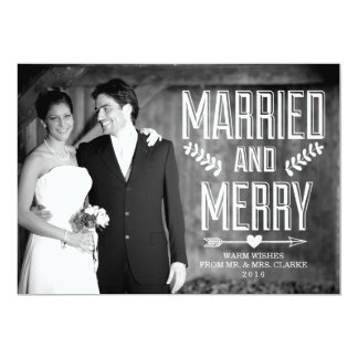 MARRIED AND MERRY | HOLIDAY CARD 13 CM X 18 CM INVITATION CARD
