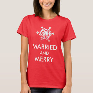 Married and Merry Ladies Christmas Top