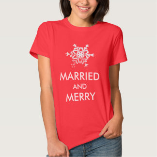 Married and Merry Ladies Christmas Top T-shirt