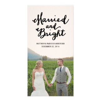 Married Bright Holiday Photo Cards