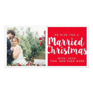 MARRIED CHRISTMAS | CHRISTMAS CUSTOM PHOTO CARD