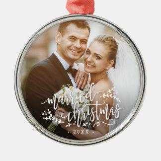 Married Christmas Custom Photo Christmas Ornament