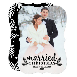 Married Christmas | Holiday Photo Card in Black
