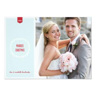 Married Christmas   Newlyweds Holiday Photo Card 13 Cm X 18 Cm Invitation Card