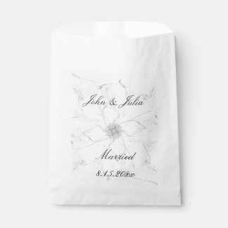 Married Flower Stencil Favor Bags Favour Bags