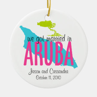 Married in Aruba Ornament