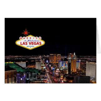 MARRIED in Fabulous Las Vegas Announcement Card