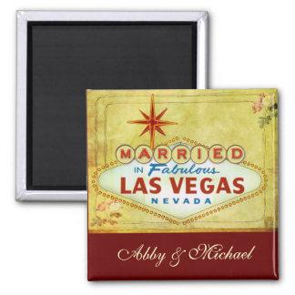 Married in Fabulous Las Vegas - Vintage Refrigerator Magnet