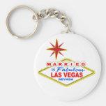 Married In Las Vegas Keychains