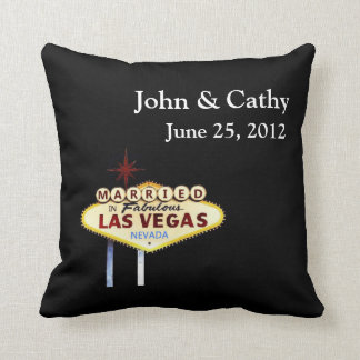 MARRIED In Las Vegas Personalized American MoJo Pi Cushion