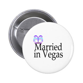 Married In Vegas Pinback Buttons