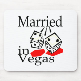 Married In Vegas (Dice) Mouse Mats