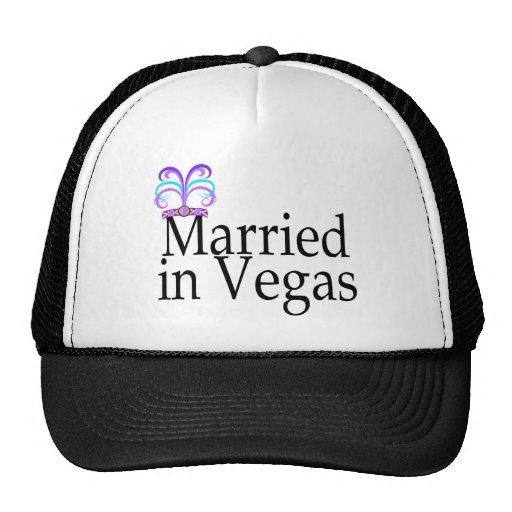 Married In Vegas Trucker Hats