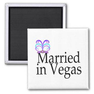 Married In Vegas Fridge Magnet