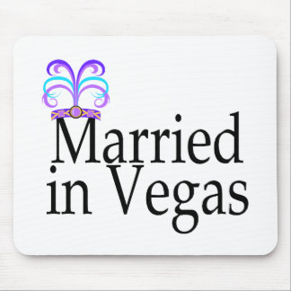 Married In Vegas Mouse Pads