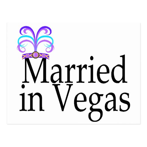 Married In Vegas Postcard