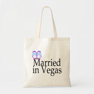 Married In Vegas Canvas Bags