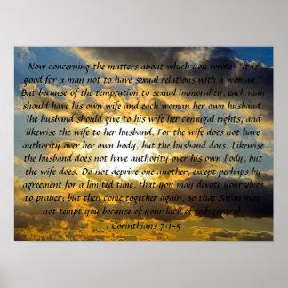 married life bible verse 1 Corinthians 7:1-5 Print