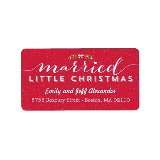 Married Little Christmas Holiday Address Labels