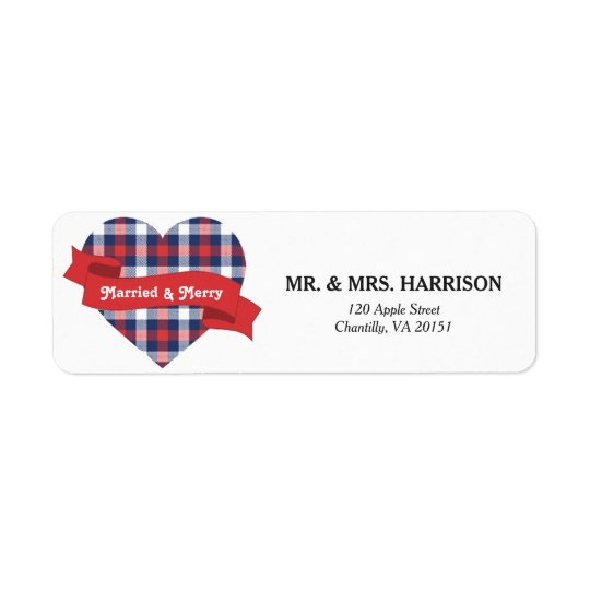 Married & Merry Address Label