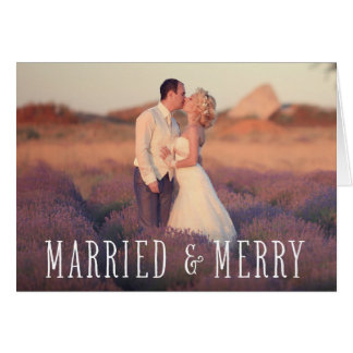 Married & Merry | Folded Holiday Greeting Card