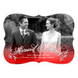 Married & Merry Newlywed Merry Christmas Card Personalized Announcement