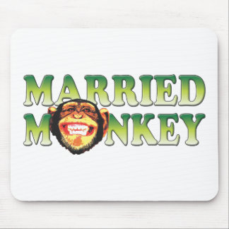 Married Monkey Mouse Pads