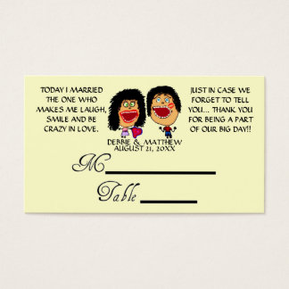 Married My Best Friend Wedding Placecards Business Card